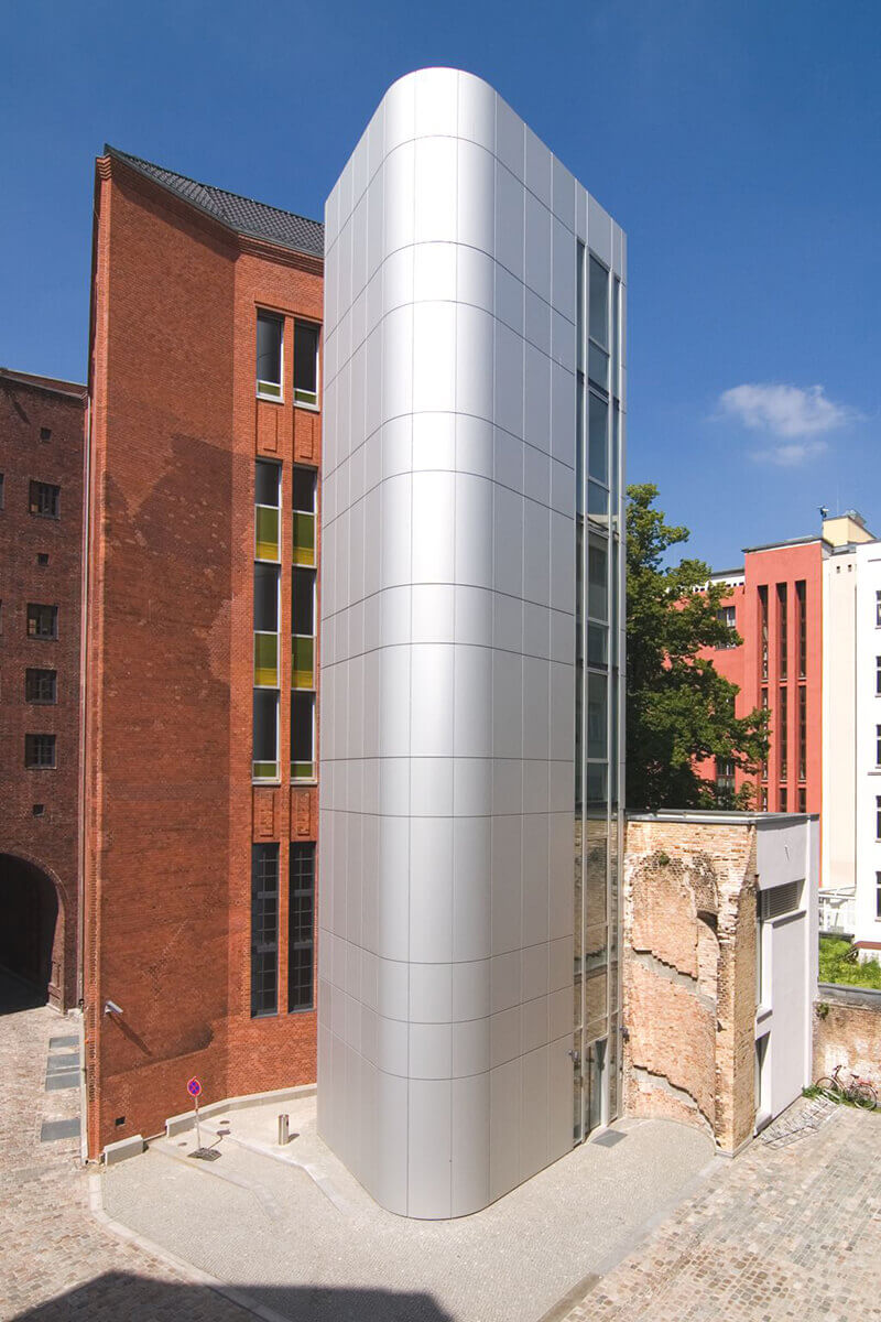 Beispiel einer Metallfassade in Berlin